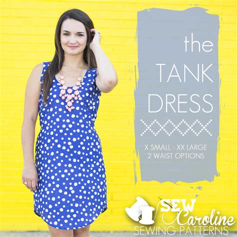 pattern tank dress sew caroline sewing pattern the tank dress