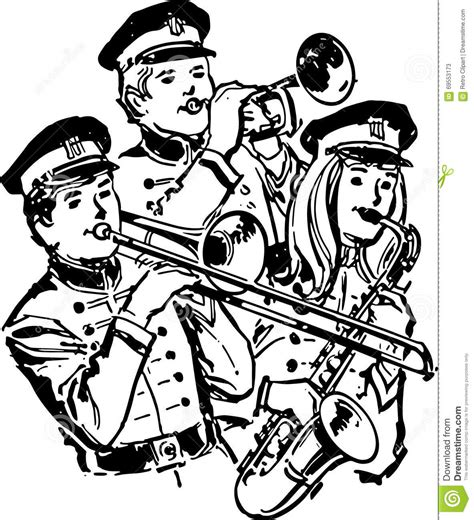 Section High School by High School Band Stock Illustration Image Of Bands