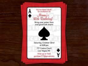 casino birthday party invitations ideas bagvania free