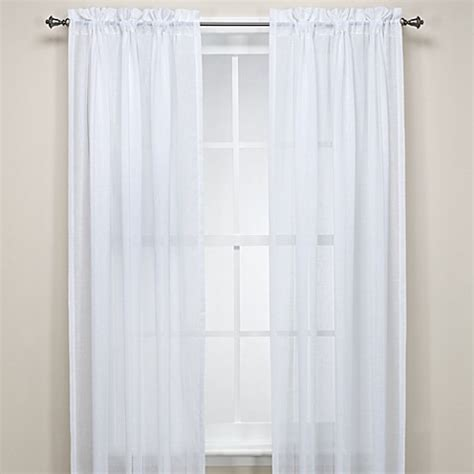 bed bath and beyond linen curtains hem stitch faux linen window curtain panel bed bath beyond