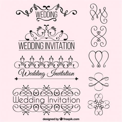 wedding invitation ornaments vector wedding invitation ornaments vector free