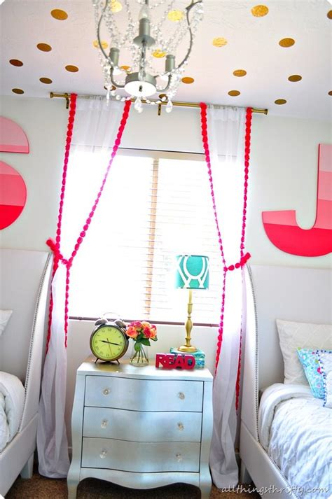 white curtains for girls room coral gold and aqua girl s bedroom reveal