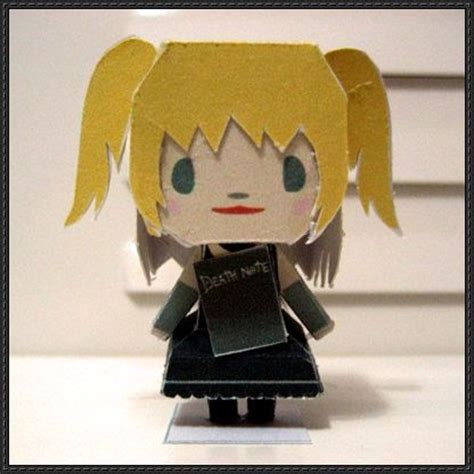 Note Papercraft - note misa amane free paper