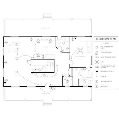 floor plan with electrical layout electrical plan