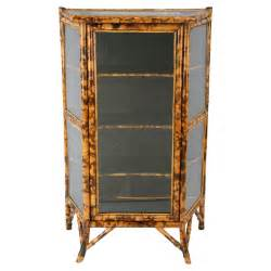 Jewelry Curio Cabinets Early 20th Century English Bamboo Curio Cabinet At 1stdibs