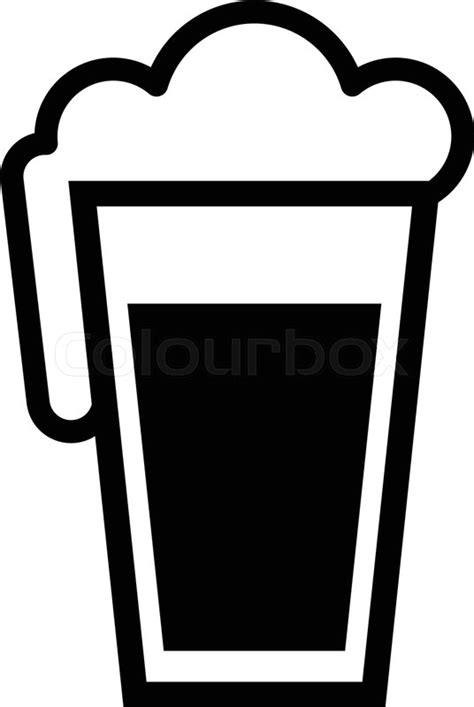 cartoon beer black and white beer pint glass graphic stock vector colourbox