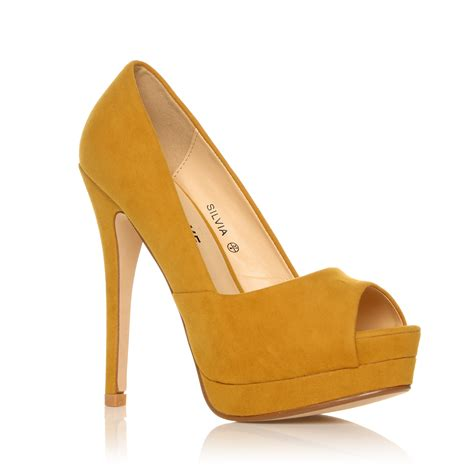 platform pumps high heels court shoes womens