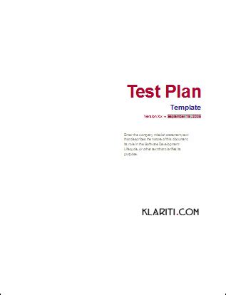 test procedure template word software testing templates 50 word 27 excel