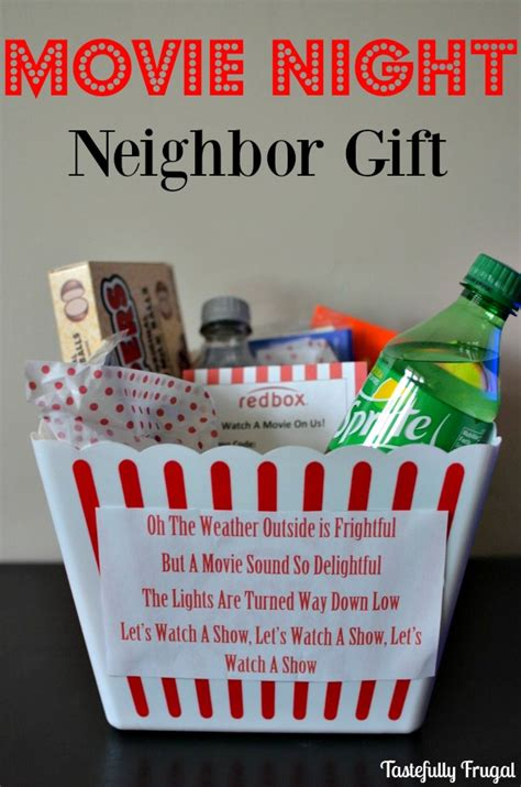movie night neighbor gift tastefully frugal all