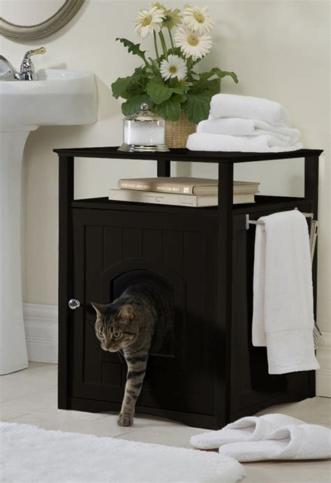 Bathroom Cat Litter Box