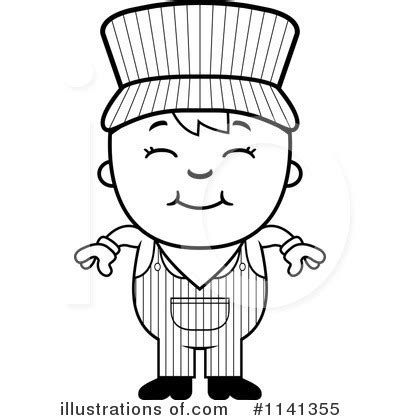 conductor hat coloring page train engineer clipart 1141355 illustration by cory thoman