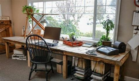 Decorate A Home Office 20 Great Farmhouse Home Office Design Ideas