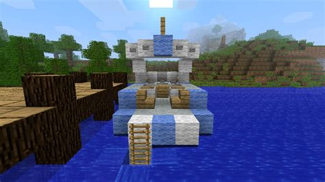 boat dock minecraft party boat water ski boat with dock minecraft project