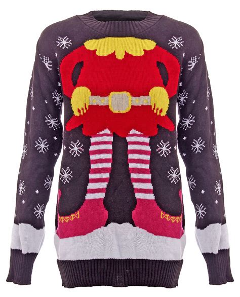 unisex kids ladies popular christmas cable knitted jumpers