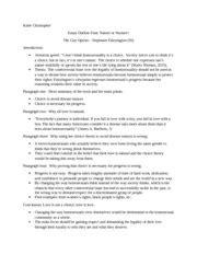 Eng 101 Sfu Outline by 101 Paper Pollitt Max Medley Mr Pollitt 101 30 April 2015 The Worlds