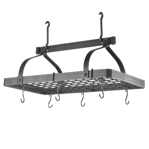 enclume grande cuisine rectangular ceiling pot rack