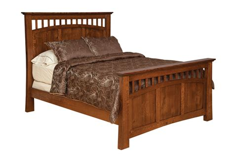 mission style bed bridgeport solid oak mission style panel bed burress