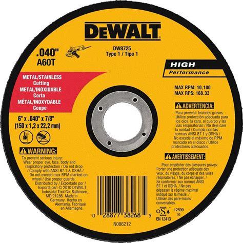 Cutting Whell dewalt dw8725 metal cutting wheel 6 quot 25 pak