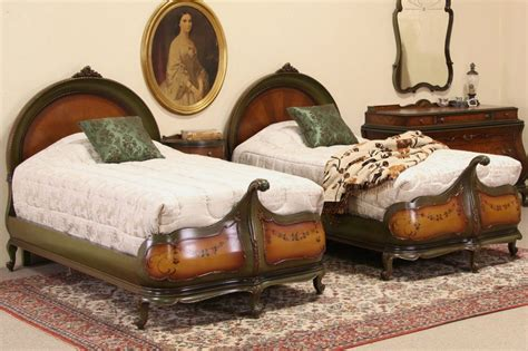 antique twin beds sold venetian gondola style pair of 1920 s antique twin