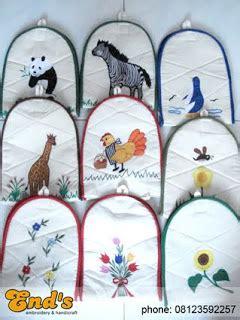 Tempat Tissue Dinding end s embroidery handicraft tempat tissue gantung
