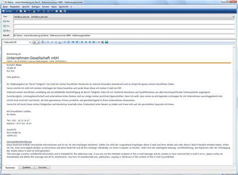 Bewerbung Anschreiben Referenznummer Im Betreff Bewerbung Per E Mail Wa