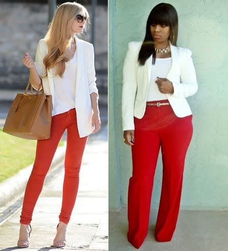 what goes with red what to wear with red pants puzzle solved