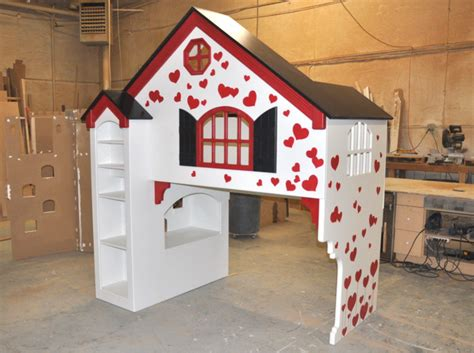 dollhouse bunk bed dollhouse loft bed themed beds by tanglewood design