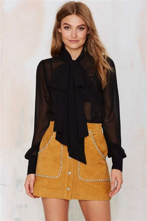 Sheer Black Blouse With Bow by Slim Fit Sleeve Sheer Chiffon Blouse Pussybow Shirt Black