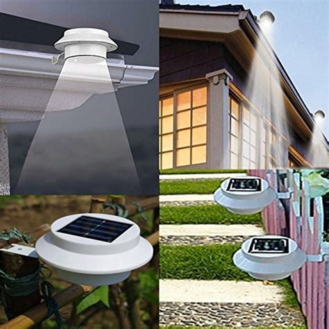 solar led lights outdoor outdoor solar powered led lights wall path landscape mount