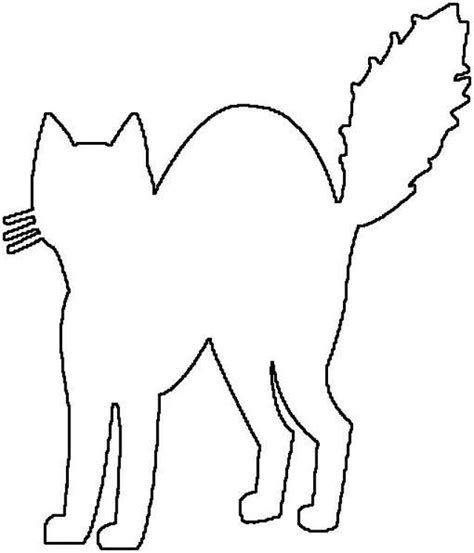 coloring pages black cats for halloween halloween cat coloring pages getcoloringpages com