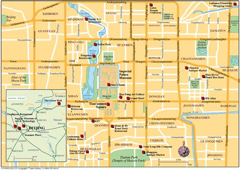 beijing map beijing map map of beijing beijing city map beijing attractions map