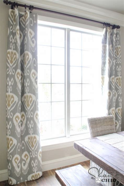 Diy Dining Room Curtains Diy Lined Window Panels Shanty 2 Chic