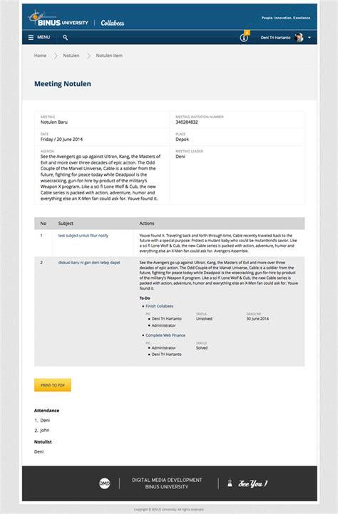 format notulen diskusi collabees wordpress collaboration system