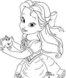 printable belle coloring pages coloring
