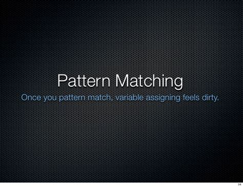pattern matching erlang intro to erlang