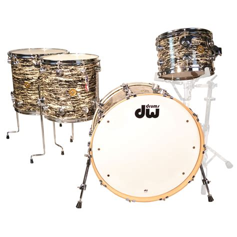 Jazz Drum Drum Set Mainan Edukatif dw jazz series 4 pc maple gum drum set shell pack 22 quot bass 12 14 16 quot toms in black oyster glass