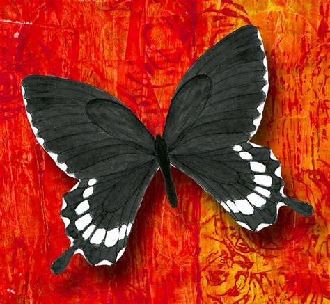 acrylic paint composition pse8 composition butterfly watercolor and pen