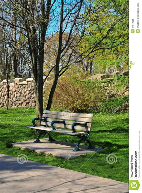 park bench toronto bench in the park royalty free stock image image 34970256