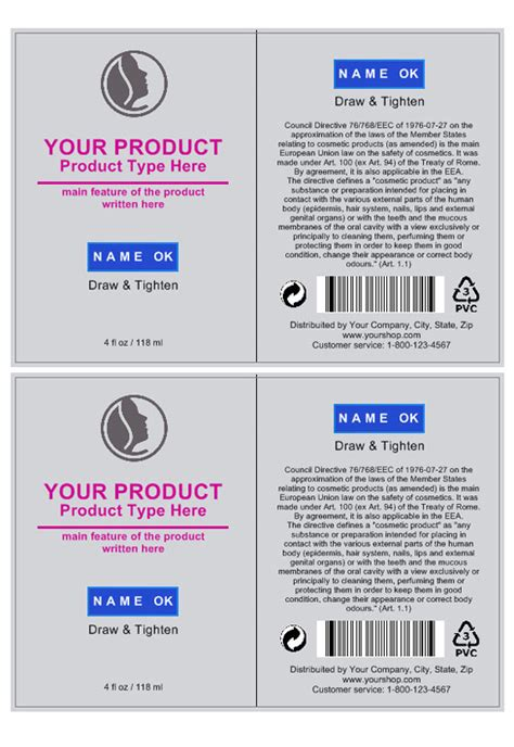Cosmetic Label Template Create Cosmetic Labeling Labeljoy Product Label Templates