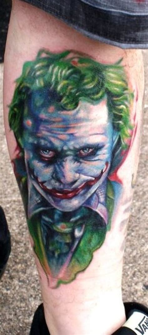 joker tattoo on leg heath ledger joker tattoo on leg tattoos book 65 000