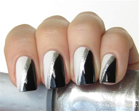 easy nail art black and silver black silver nail designs cpgdsconsortium com