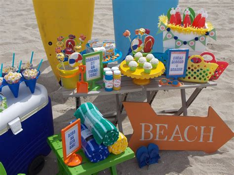 themed birthday party at home beach themed kid birthday party home party ideas