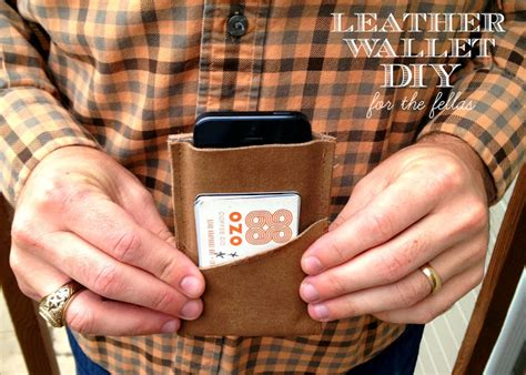 tutorial wallet handmade oh sweet joy handmade monday leather wallet diy for