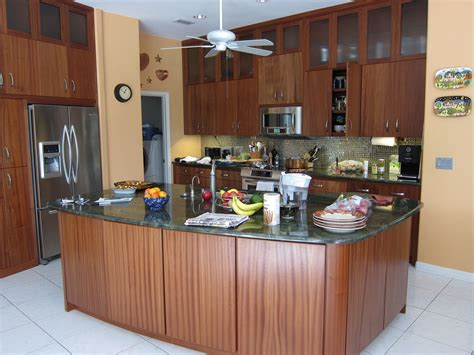 custom sapele wood kitchen cabinets by designs inc