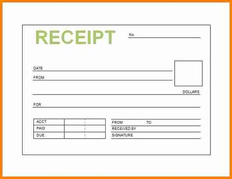 Electronic Receipt Template by 6 Electronic Receipt Template Penn Working Papers