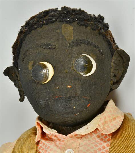 Handmade Black Dolls - lot 159 pr of 19th cent handmade black dolls
