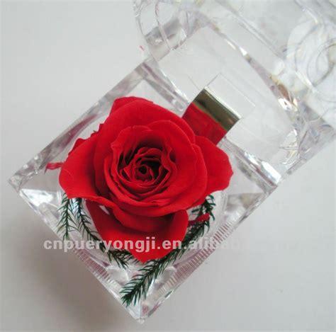 Box A Single David White Purple Preserved Flower preserved flower in glass for gift buy flower flowers resin