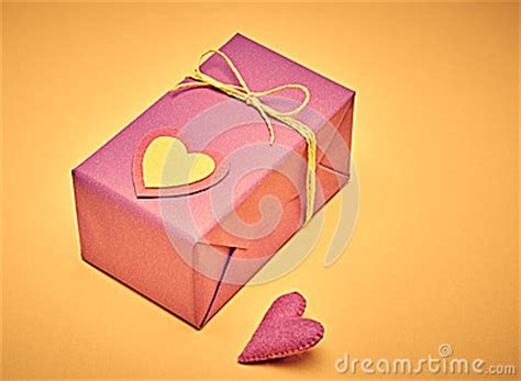 Handcraft Gift - hearts valentines day handcraft gift boxes stock