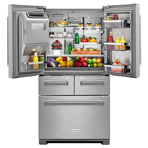 Kitchenaid Refrigerator Not Cooling Properly Kitchenaid Krmf706ess 25 8 Cu Ft 36 Quot Multi Door