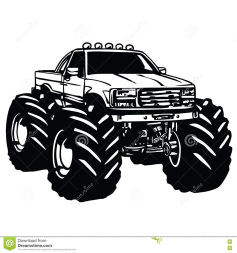 bigfoot monster truck logo monster truck bigfoot stock vector illustration of cool